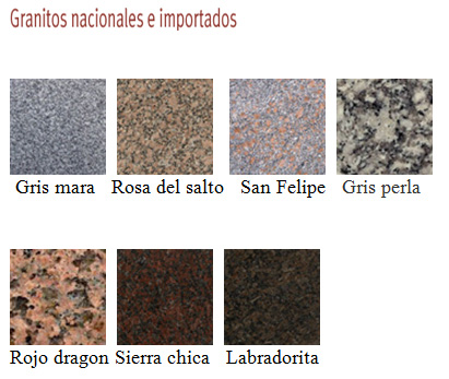 Novedades for Catalogo de marmoles y granitos